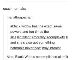 batman, black widow, and fandom image