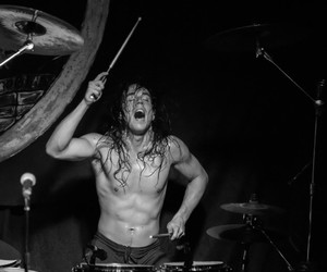 drummer, metal, and skull fist image