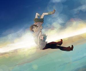 anime, sky, and sakasama no patema image