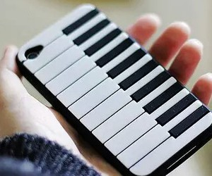 piano, iphone, and phone image