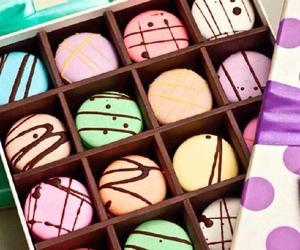 box, cake, and chocolate image