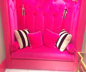 couch, glamour, and pink image