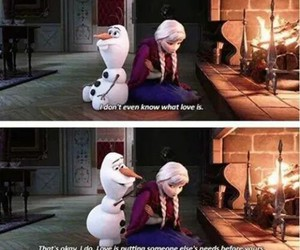 frozen, love, and olaf image