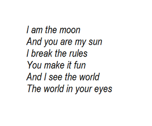 moon, poem, and sun image