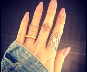 nails, coffin nails, and pink image
