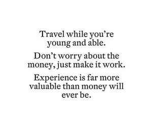 travel, quotes, and young image