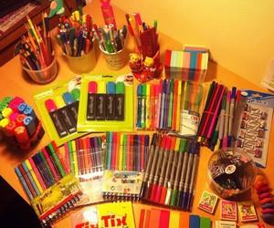 school supplies and material escolar image