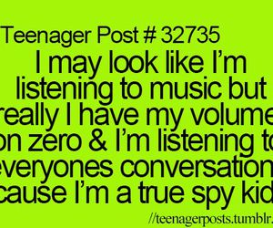 music, spy, and teenager post image