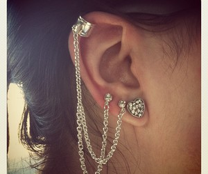 earrings, cuff, and heart image