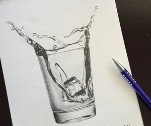 art, drawing, and water image