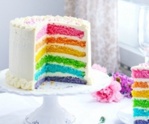 cake, colors, and sweet image