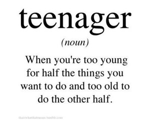 teenager, quote, and true image