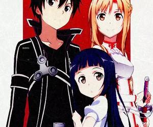 kirito, asuna, and sao image