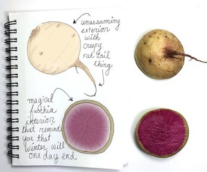 art, healthy eating, and journal image
