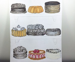 art, sweets, and cake image