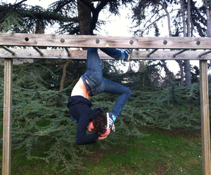 flexible, street workout, and gym image