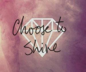 shine, diamond, and quotes image