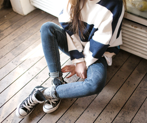 outfit, jeans, and fashion image