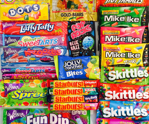 candy, love, and skittles image