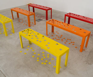 bench, design, and furniture image