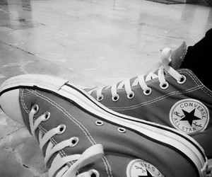 alternative, black&white, and converse image