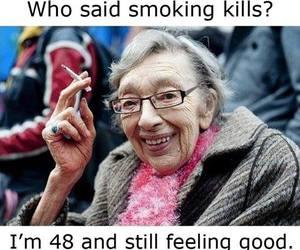 funny, lol, and smoking image
