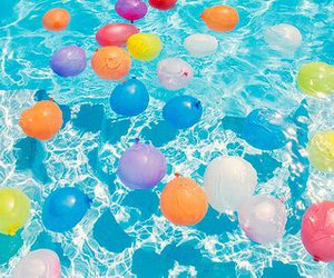 balloons, summer, and pool image