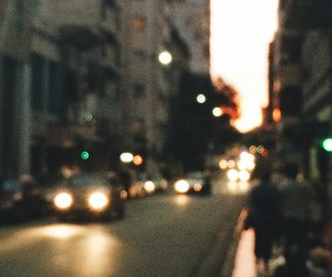 blurred, lonely, and city image