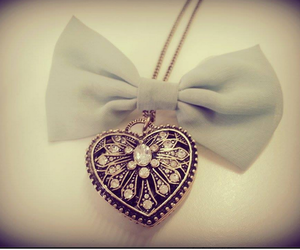 accessories, bow, and heart image