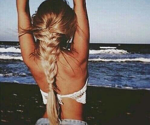 beach, beautiful, and hairstyle image