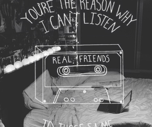 music, song, and real friends image