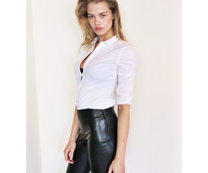 beautiful, Hot, and leather pants image
