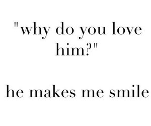 love, smile, and him image