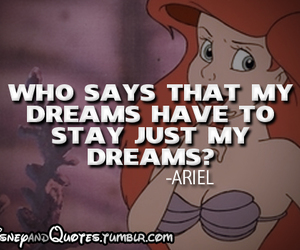 ariel, quote, and disney image