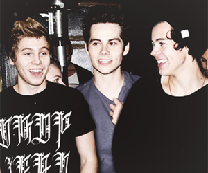 Harry Styles, luke hemmings, and dylan o'brien image