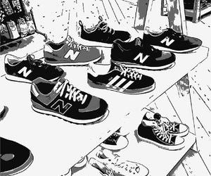 monochrome and shoes image