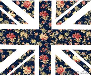 flowers, england, and flag image