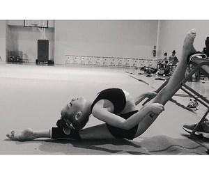 blackandwhite, gymnastics, and strech image