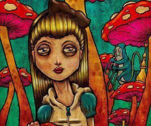 alice, drugs, and mushroom image
