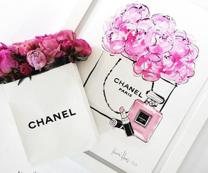 chanel, art, and flowers image