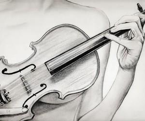 drawing and violin image