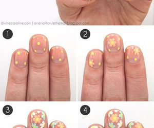 flores, uñas, and flowers image