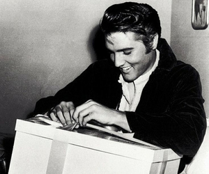 Elvis Presley and black and white image