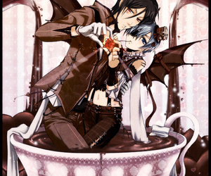 anime, Hot, and black butler image