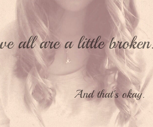 quote, broken, and couple image