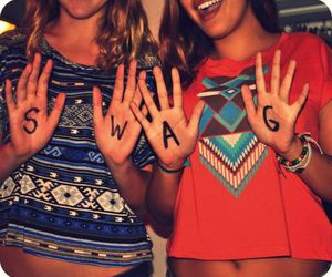 swag, girl, and friends image