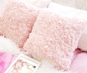 interior decor, pink, and throw pillows image