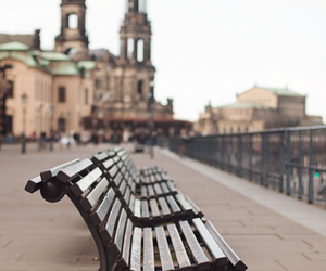 bench and city image
