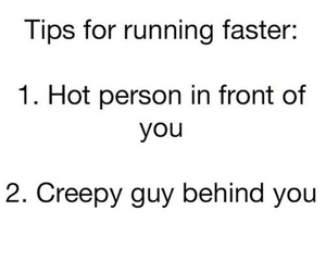 running, funny, and tips image