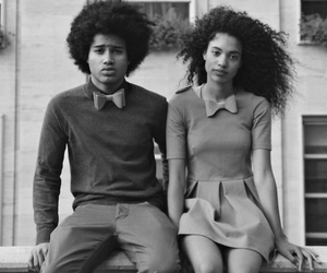 couple, hair, and black image